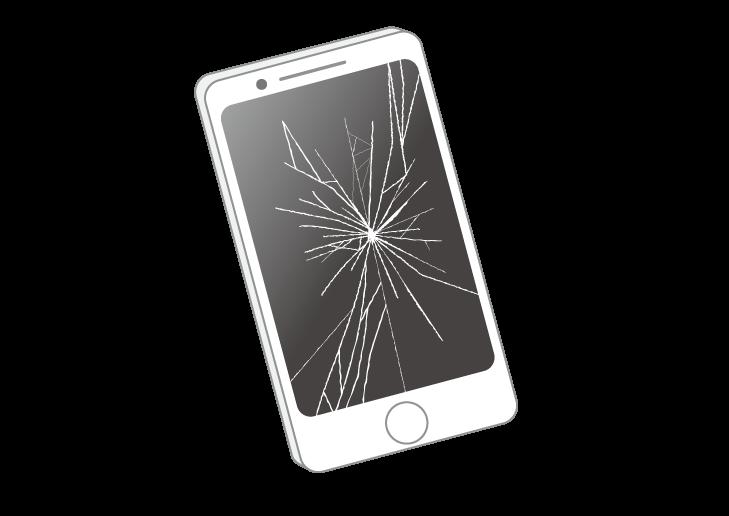 「携帯 ガラス割れ」の画像検索結果